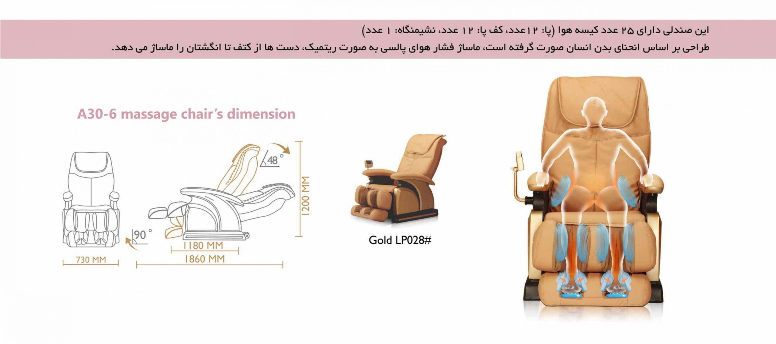 کیسه های هوا صندلی ماساژور آی رست iRest A30-6