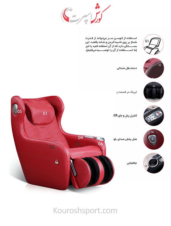 امکانات و مشخصات صندلی ماساژور آی رست iRest SL A156-2