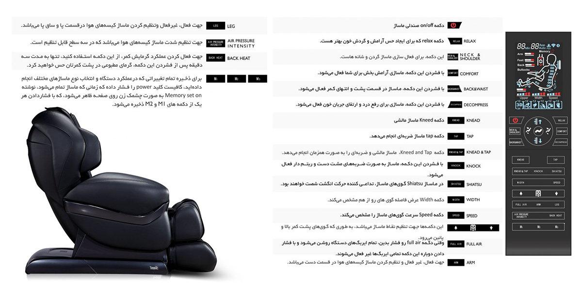 توضیح درباره صندلی ماساژور آی رست SL A90-2